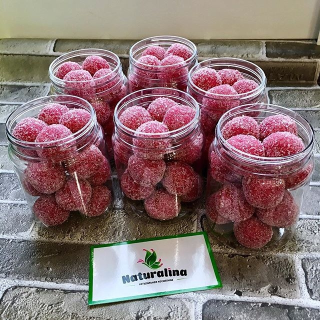 """Скраб-шарики для тела """"Лесные ягоды"""" - 1"""